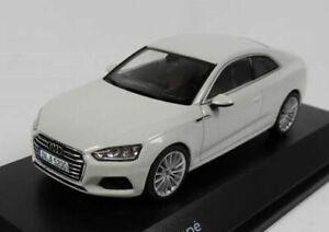 Audi-A5-Coupe-Glacier-White-1-43-Spark-High-Quality-Dealer-Model