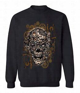 Geared-Skull-Crewneck-Steampunk-Funky-Funny-Cool-Sweatshirt-Day-Of-Dead-Sweater