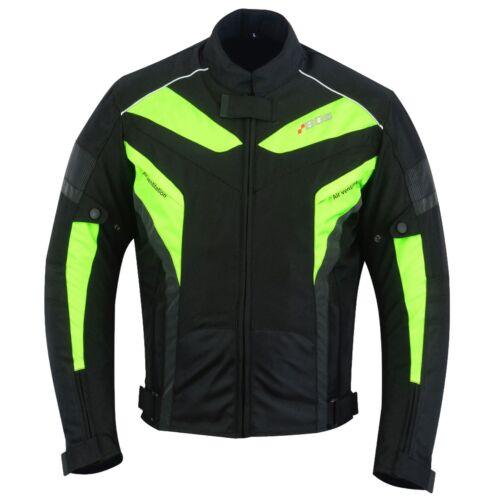 5 XL Giacca Biker Estate Giacca Moto Moto Giacca Tessile Nero Quad brevemente M