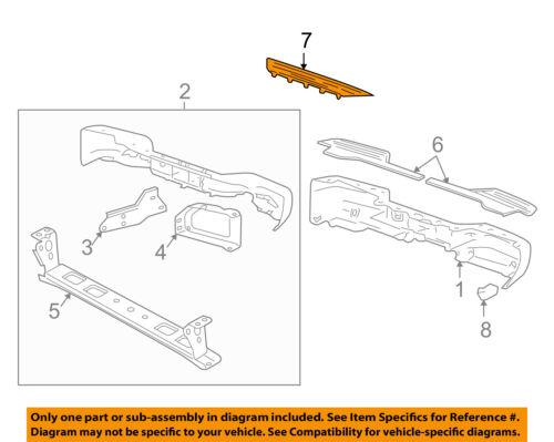 GM OEM Rear Bumper-Step Pad Protector Guard Sill Plate 15080820
