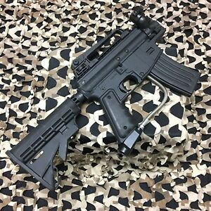 USED-Tippmann-Alpha-Black-Elite-68-Cal-Paintball-Marker-NO-Barrel-Black