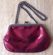 Limited Express Ruby Red Clutch Purse Tote Glitter Prom Formal Wedding Party