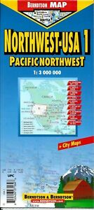 Map Of Northwestern Usa Usa 1 Pacific Northwest Laminated
