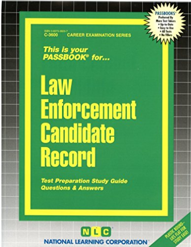 National Learning Corporation-Law Enforcement Candidate Record BOOK NEW
