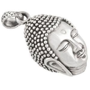 Buddha-Anhanger-gros-Silber-925-Buddhismus-Schmuck-b83