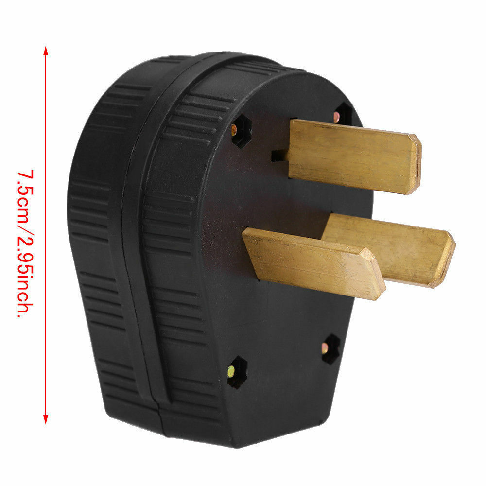 50 Amp 220 Volt 3 Prong Plug Replacement Fit Electrical Rv Welder Cooper Wiring 4 Wire Universal Angle 220v 295 Hot Ebay