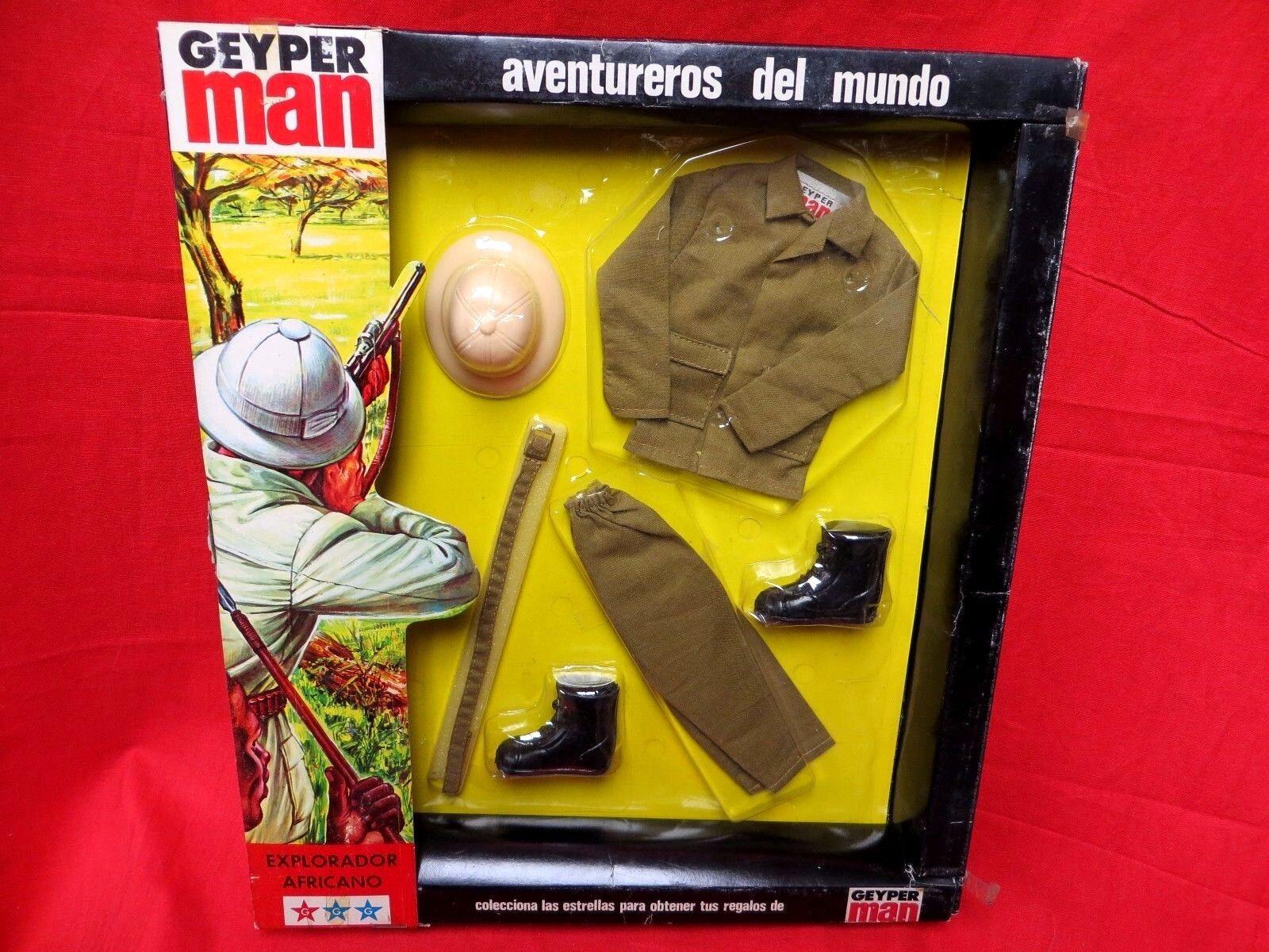 1964 vintage - gi joe geyperman joezeta  1975 explorador africano umzingelt