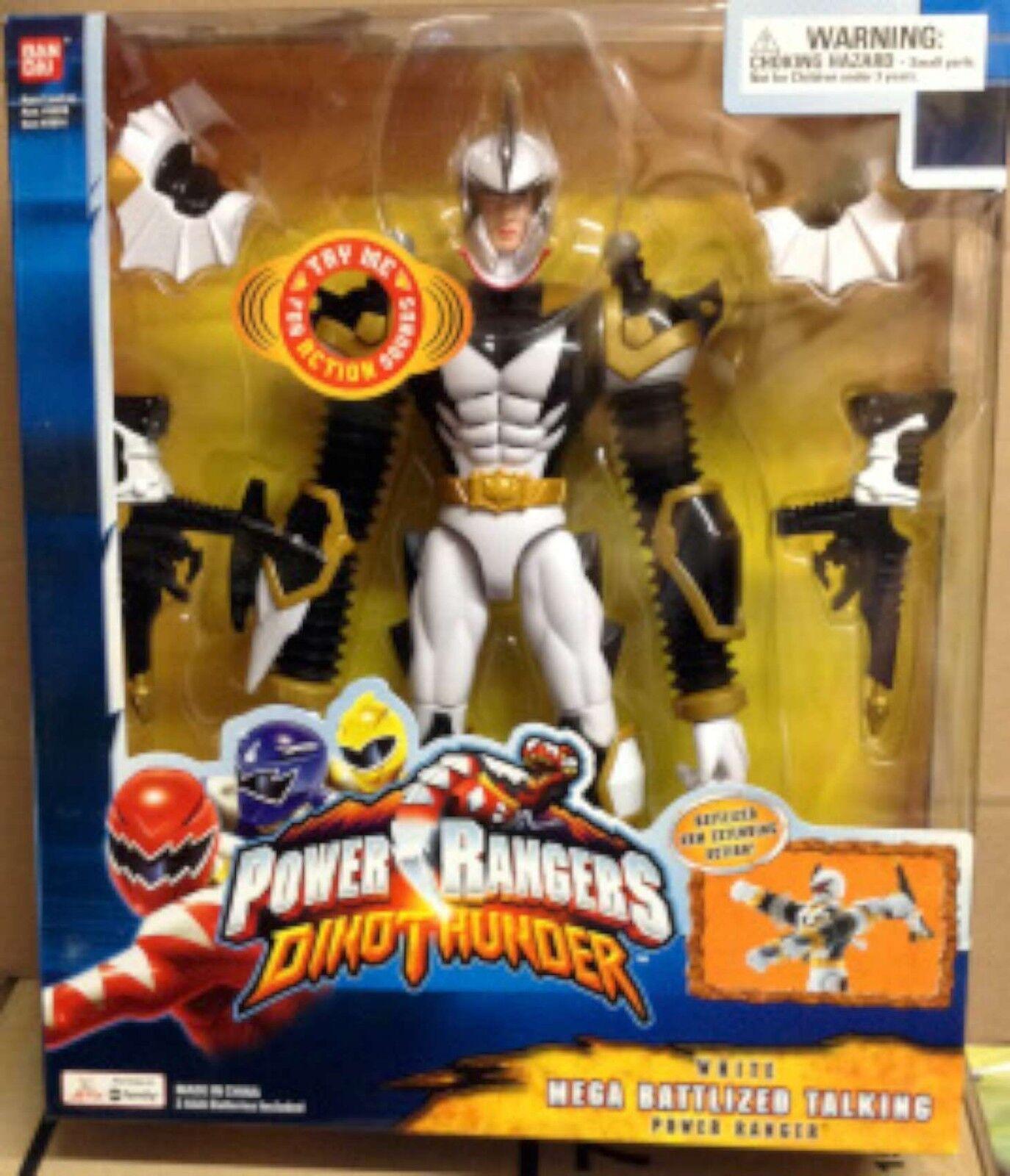 POWER RANGERS DINO THUNDER Weiß MEGA BATTLIZED TALKING POWER RANGER 12