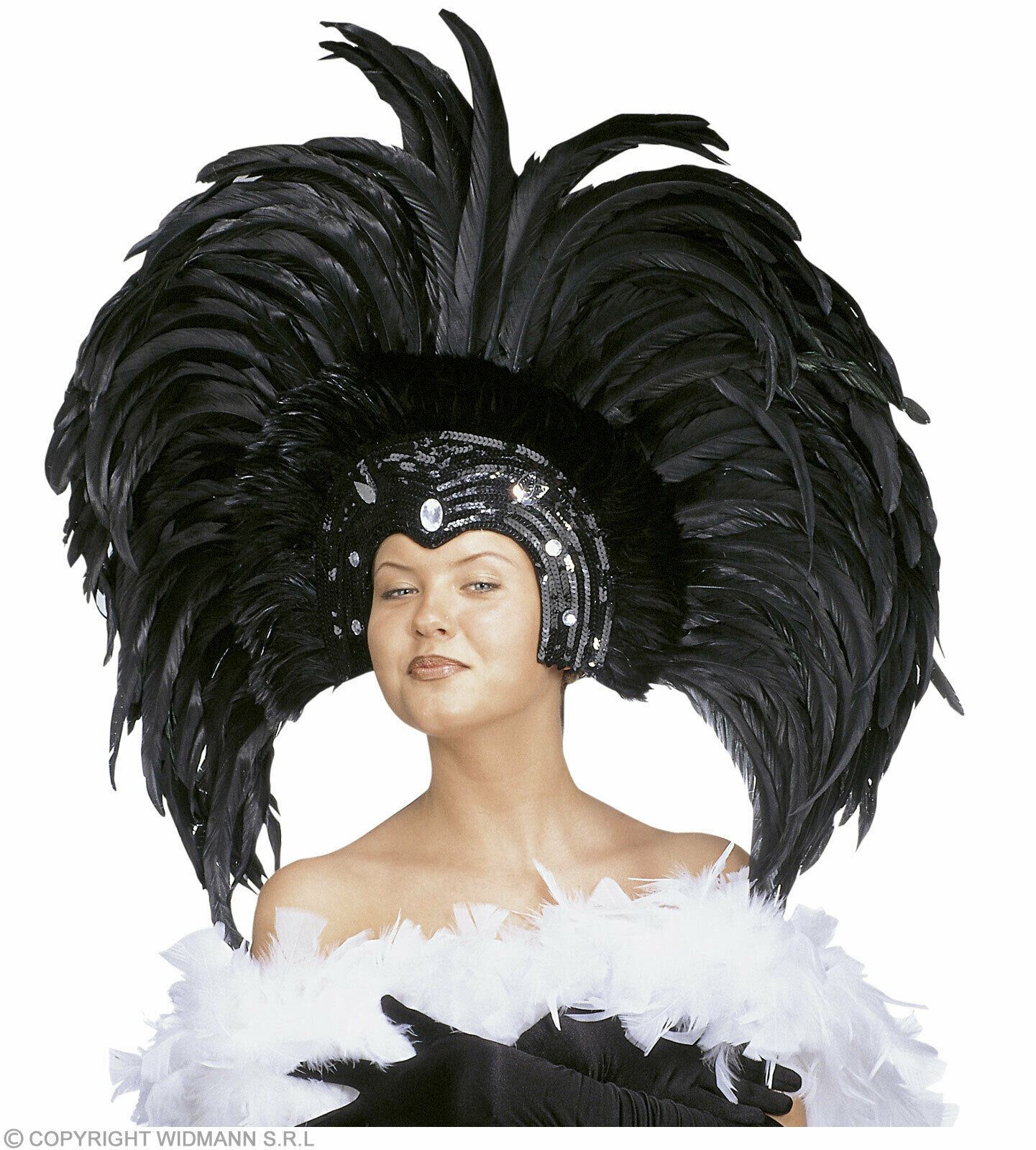 FEATHERED BRAZIL HEADDRESS - FANCY DRESS