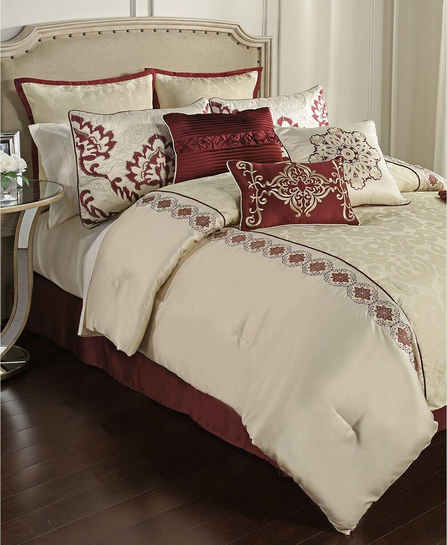 Hallmart Collectibles 14 Piece King Comforter Set Conrad T93298