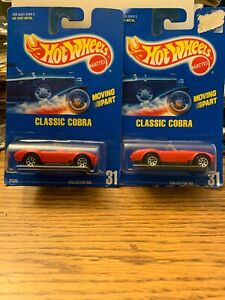 Hot Wheels 1991 Red CLASSIC COBRA Collector #31