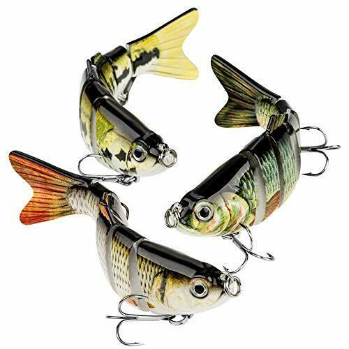 Details about  /3 Pack Swimming Robotic Fishing Lure Animated Swimbait Electric 3D Eye Design