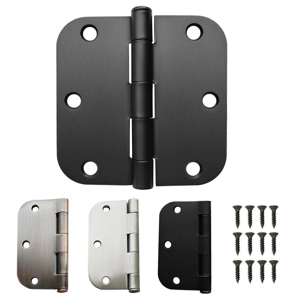 20x 50x 100x 3.5  Steel Interior Door Hinge 5 8  Radius Removable Pin w  Screws