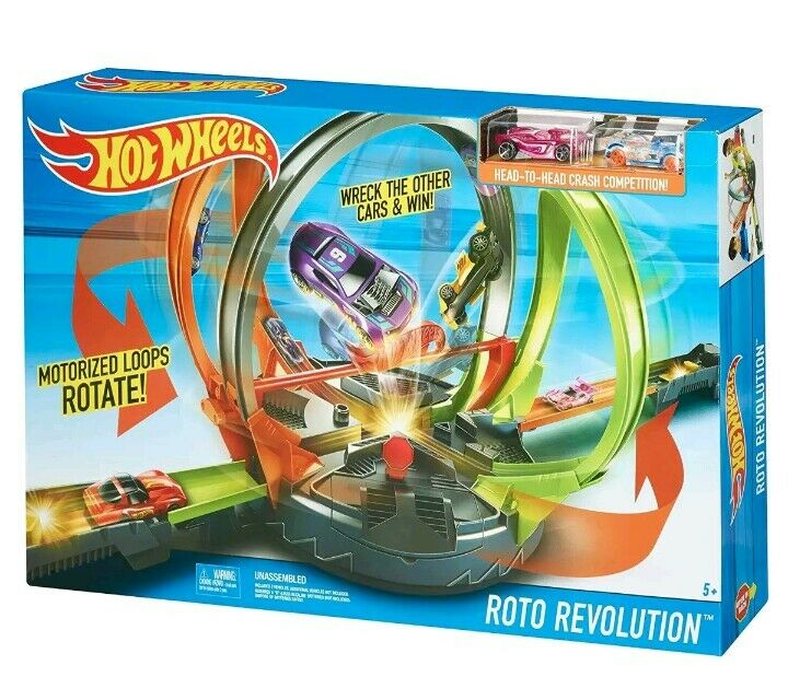 Hot Wheels motorized Loops rossoate retro Revolution Raceway one 1 or 2  players