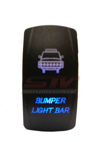 Laser Blue Rocker Switch BUMPER LIGHT 20A 12V On//off LED Light