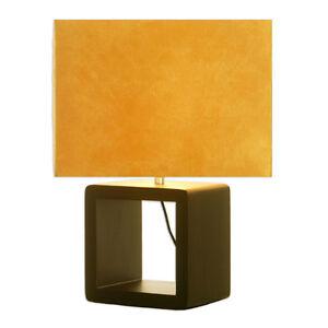 LAMPE-a-Poser-De-Bureau-de-Style-CONTEMPORAIN-avec-Pied-en-BOIS-Finition-Wenge