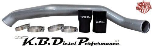 Silver Metallic Intercooler Tube Pipe Hot Side 11-16 Chevy GMC Duramax 6.6l LML