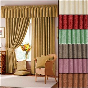 Lana-Damask-Lined-Curtain-Range-In-Multiple-Colours-amp-Sizes-Free-Postage