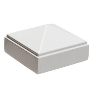 "2"" X 2"" Decorex Hardware Aluminium Pyramid Post Cap For Metal Posts - White Forme éLéGante"