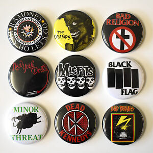USA-PUNK-BANDS-Badges-Buttons-Pin-Set-Lot-x-9-One-Inch-25mm-American-hardcore