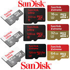 16/32/64/128GB/200GB SanDisk Ultra Extreme Micro SD SDXC CLASS10 lot MEMORY CARD