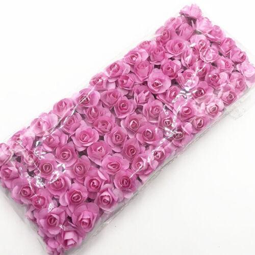 144PCS 2 cm Mini espuma Rosa Artificielle Flor Ramo Boda Decoración Flores À faire soi-même