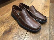 Clarks Mens Rakin Brown Leather Slip on