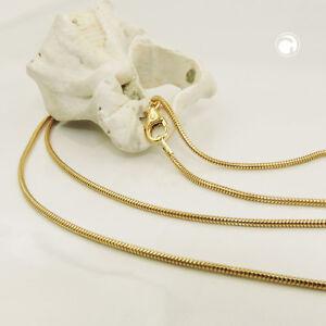 1-2-mm-Schlangenkette-585er-echt-Gold-14-Karat-50-cm-Halskette-Gelbgold-neu