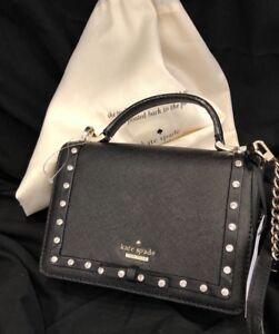 KATE-SPADE-Cameron-Street-Hope-Crossbody-Leather-Bow-Studded-Saffiano-Black