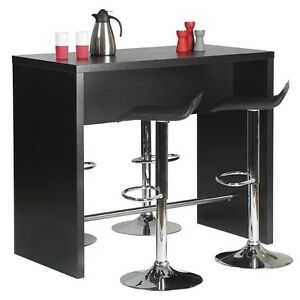 Image Is Loading Breakfast Bar Table In Black Ash White Or