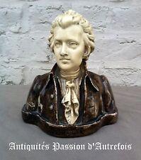 B2017129 - Buste en plâtre - Mozart - 18 cm de haut - Très bon état