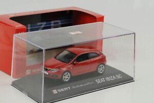 Seat-Ibiza-Sc-Red-2013-Car-Emocion-1-43-Dealer-Diecast