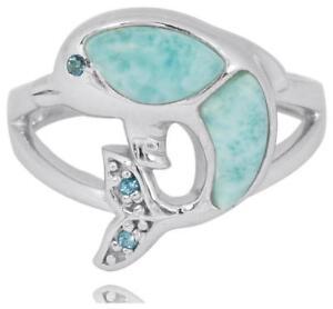Sterling Silver Larimar Ring 6660//LR