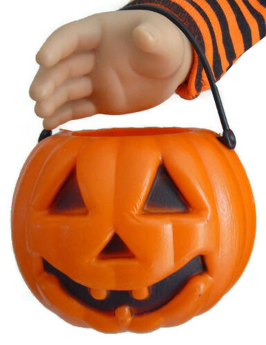 """Halloween Pumpkin Candy Holder for 18/"""" American Girl Doll SIZED Accessories"""