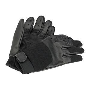 BILTWELL-Bantam-Gants-de-moto-cuir-synthetique-melange-noir-taille-S