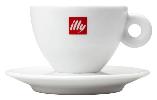 rotem Illy Logo Illy Logo Cappuccinotasse 350 ml 12 Ober-und Untertassen weiß m