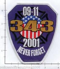New York - 9-11-01 WTC Never Forget  NY Fire Dept Patch 343 WTC 9-11