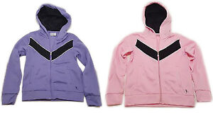 Danskin-Girl-039-s-Zip-Up-Hoodie-Track-Jacket-Choose-Your-Size-amp-Color-Purple-Pink