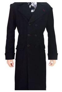 bis zu 80% sparen Skate-Schuhe neuer Stil & Luxus Details zu Sherlock Holmes Benedict Cumberbatch Winter Echt Schwarze Wolle  Langer Mantel