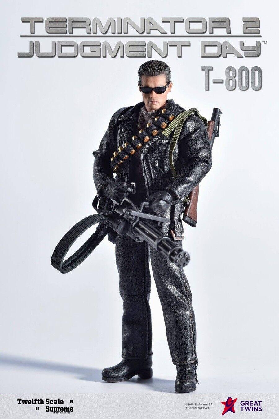 Gran Gemelos Terminator 2  juicio día T-800 Arnold negroenegger 1 12 figura