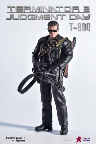 Great Twins Terminator 2 Judgement Day T-800 Arnold Schwarzenegger 1//12 Figure