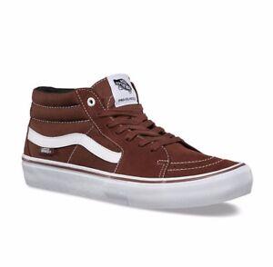 VANS-Sk8-Mid-Pro-Cappuccino-White-Suede-UltraCush-Skate-MEN-039-S-6-5-WOMEN-039-S-8