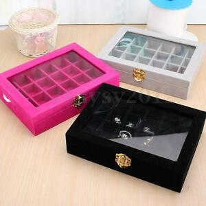 Image Is Loading New Velvet Gl Jewelery Ring Display Case Tray