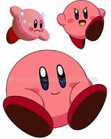 Kirby Iron On T Shirt / Pillowcase Fabric Transfer Set Kirby05
