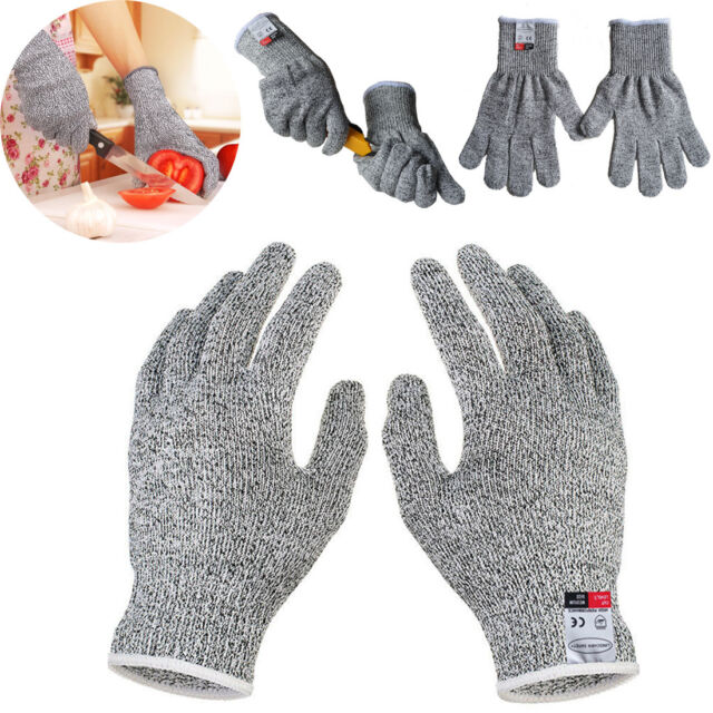 Cut Resistant Gloves Anti-Cutting Food Grade Level 5 Kitchen Butcher Protections