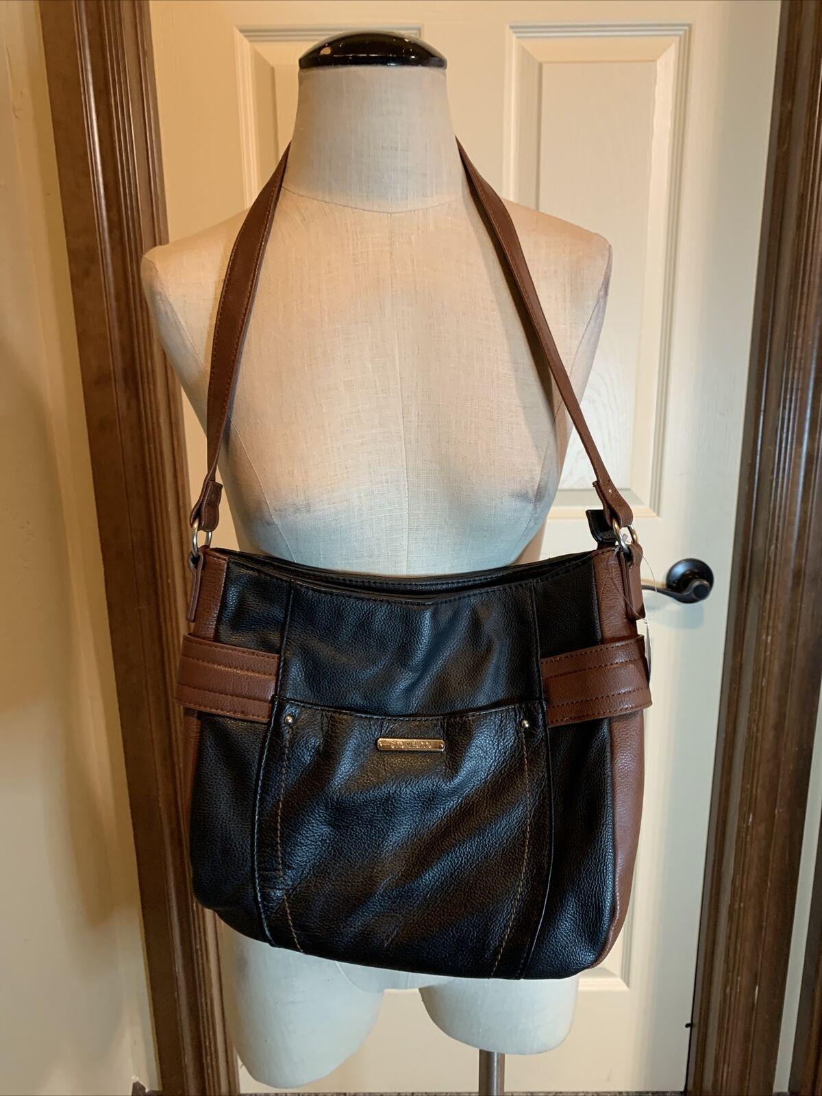 Stone & Co purse Handbag Hobo Black Brown NWT (159)