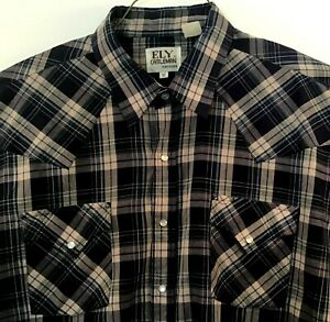 Vintage-Cattleman-Men-039-s-Size-XL-Pearl-Snap-Shirt-Plaid-Checkers-Western-Blue-Red