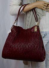NWT COACH 26257 Madison Phoebe Gathered Twist Leather Hobo Shoulder Bag Brick