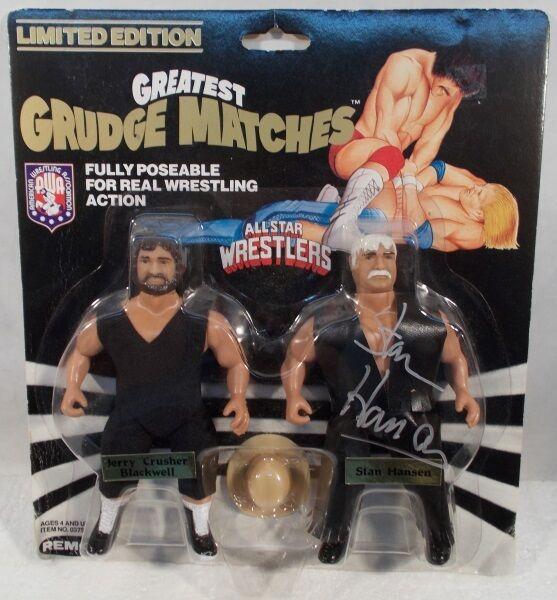 AWA Wrestling Grudge Matches Remco Crusher svartwell mot Stan Hansen Autograferad