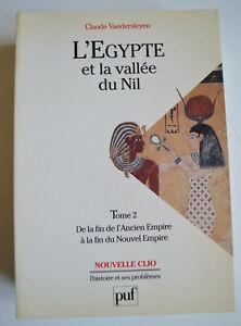 L EGYPTE ET LA VALLEE DU NIL DE Vandersleyen T2 ED PUF CLIO 1995 TBE